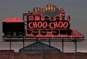 Choo-Choo sign at conference hotel