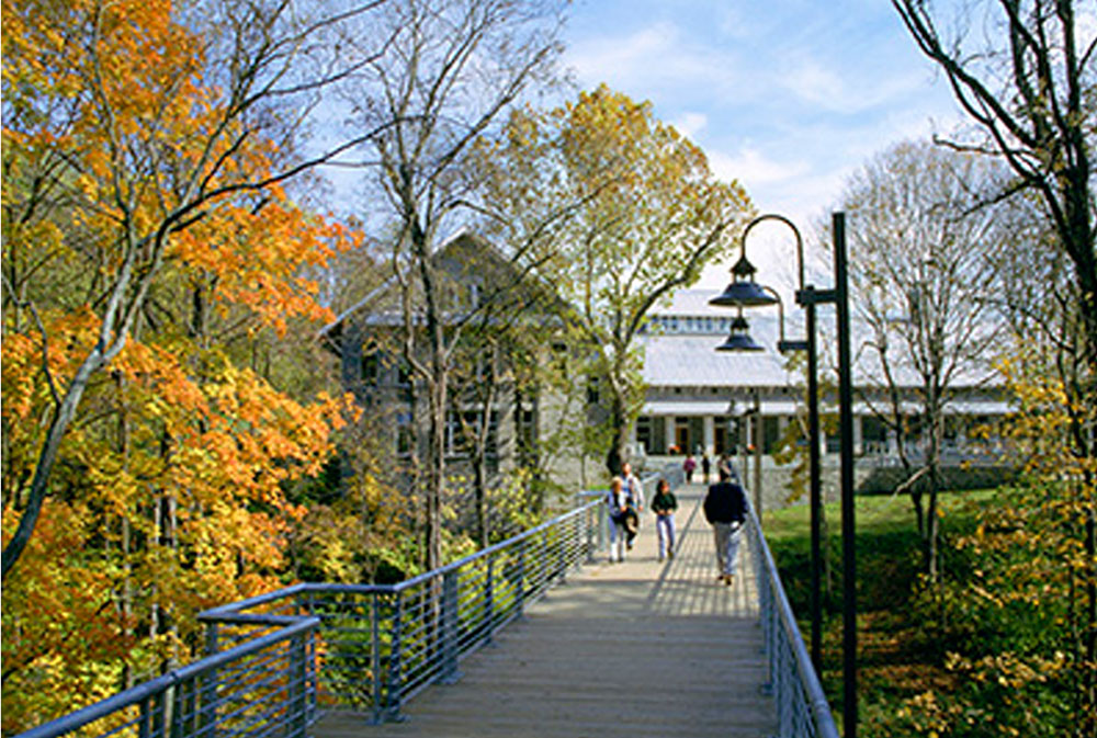 Pedestrian bridge at National Conservation Training Center